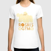 gym T-shirts featuring roshi's gym by Louis Roskosch