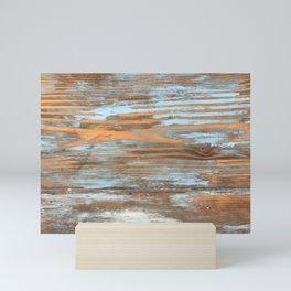 Vintage Wood With Color Splashes Mini Art Print