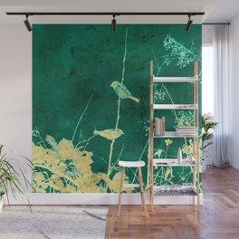 Yellow Birds on Vine Wall Mural