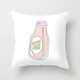 Yum! Strawberry Lemonade Throw Pillow