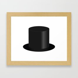 Top Hat Framed Art Print