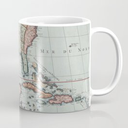 Vintage Map of The Gulf of Mexico (1732) Coffee Mug