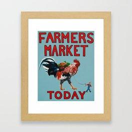 Farmers Market Framed Art Print