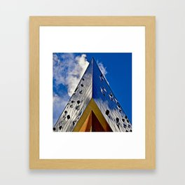 When music touches the blue sky Framed Art Print