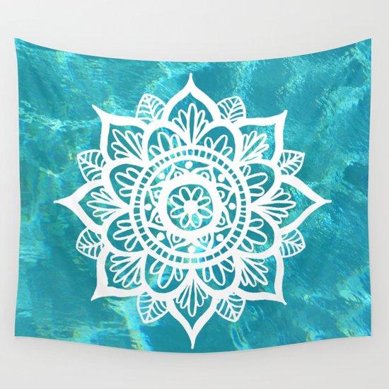 Water Mandala Wall Tapestry