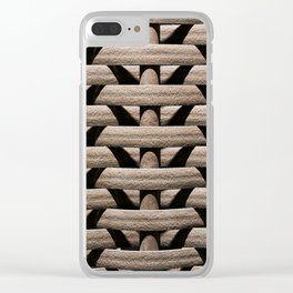 Background wicker rods Clear iPhone Case