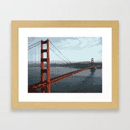 Golden Gate Bridge 8-Bit Framed Art Print