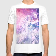 Celestial Angel MEDIUM White Mens Fitted Tee