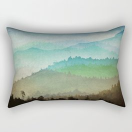 Watercolor Hills Rectangular Pillow