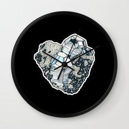 Hematite Crystal Cluster Wall Clock