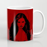 vampire diaries Mugs featuring Vampire Diaries by Tamsin Lucie