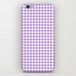 Small Diamonds - White and Light Violet iPhone Skin
