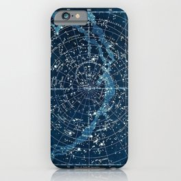 1900 Star Constellation Map - Chart Vintage Poster iPhone Case