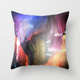 Midnight stray Throw Pillow