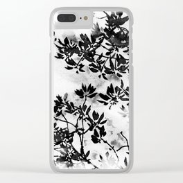 Contrast Botanical Clear iPhone Case