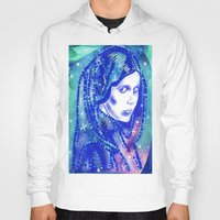 leia Hoodies featuring Princess Leia by grapeloverarts