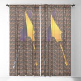 Clashing Neshehteam Mitcheme Wands Sheer Curtain