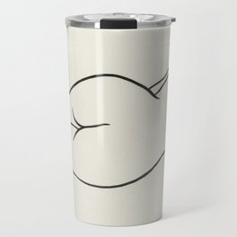 Naked woman showing her bottom Travel Mug