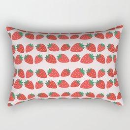 strawberry fruit illustration vector pattern Rectangular Pillow