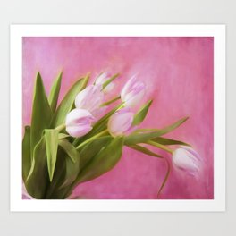 Graceful Pink Tulips Art Print