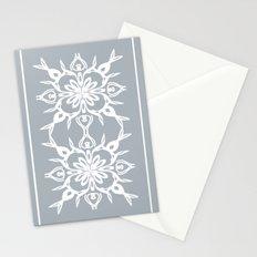 White on grey Stationery Cards