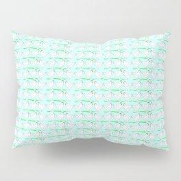 White hen on blue sky Pillow Sham