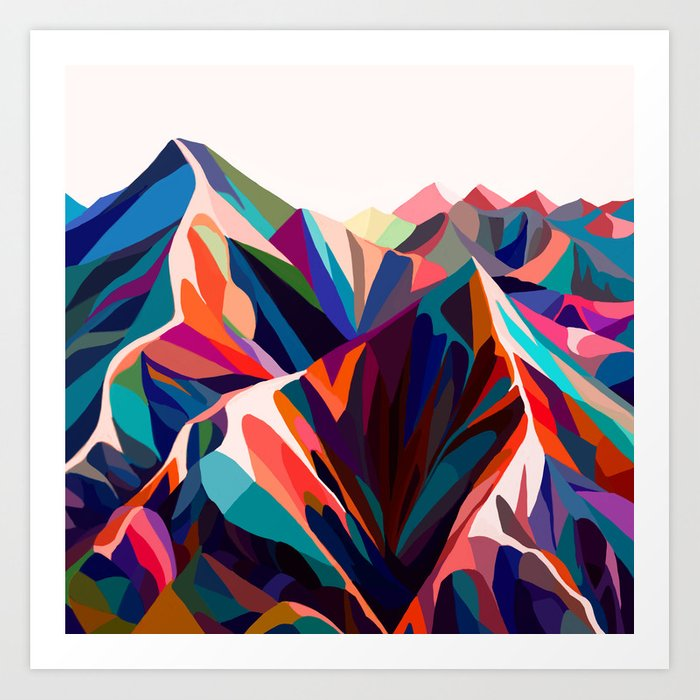 Mountains sunset warm Kunstdrucke