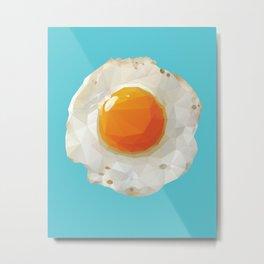 Fried Egg Polygon Art Metal Print
