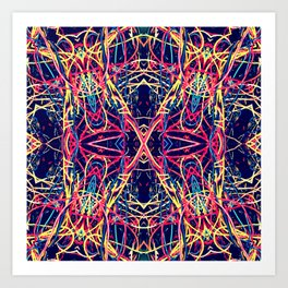 Wire Animals Quad 3 Art Print