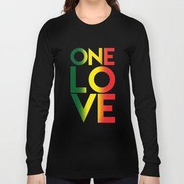 One Love Rasta Reggae Rastafari Music Lovers Gift Long Sleeve T-shirt