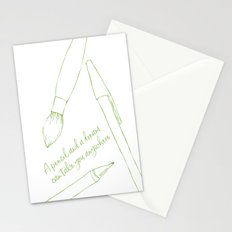A pencil and a dream... greenery! Stationery Cards