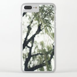 Beneath the Willow Tree Clear iPhone Case