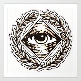Clear Vision All Seeing Eye Art Print