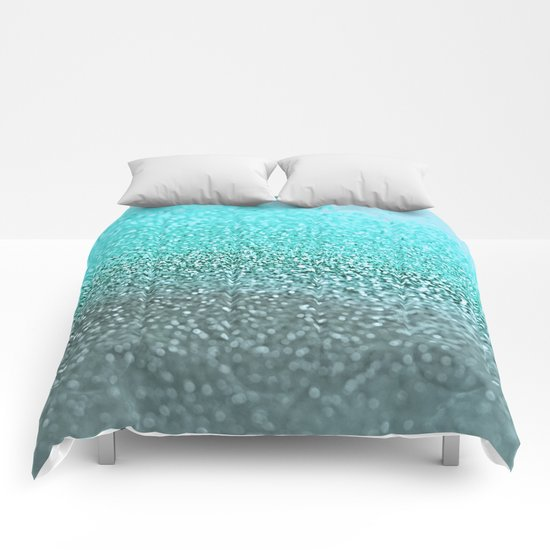 TEAL GLITTER Comforters