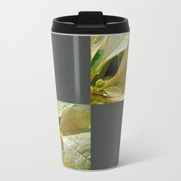 Pale Yellow Poinsettia 1 Blank Q6F0 Travel Mug
