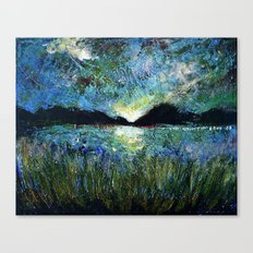 Twilight on a Transylvanian Lake Canvas Print
