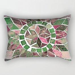 Pink & Green Stone Flower Rectangular Pillow