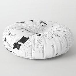 Gator Rolls Floor Pillow