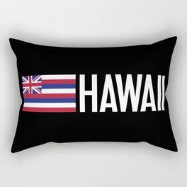 Hawaii: Hawaiin Flag & Hawaii Rectangular Pillow