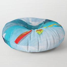Canadian Canoes Floor Pillow