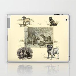 PUG DOGS Illustration Laptop & iPad Skin
