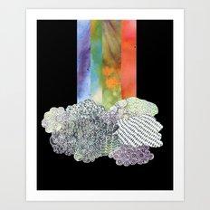 Clouds & Rainbow Art Print