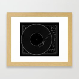 Turntable Framed Art Print