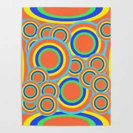Mod - Colorful Circles Poster