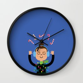 Holiday with Candy Wall Clock
