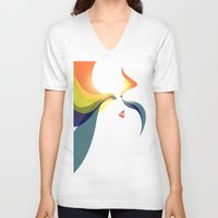 goddess V-neck T-shirts featuring Goddess by Noah Ocean
