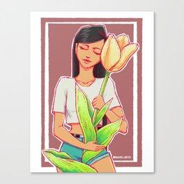 Tulip hug Canvas Print