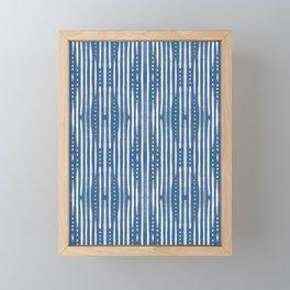 Shibori Tribal #society6 #shibori Framed Mini Art Print