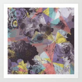 Modern abstract colorful geometric floral pattern Art Print