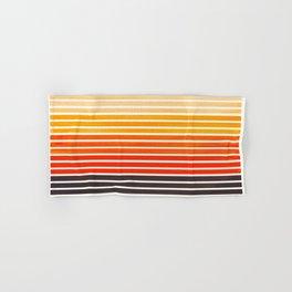 Watercolor Gouache Mid Century Modern Minimalist Colorful Orange Stripes Hand & Bath Towel